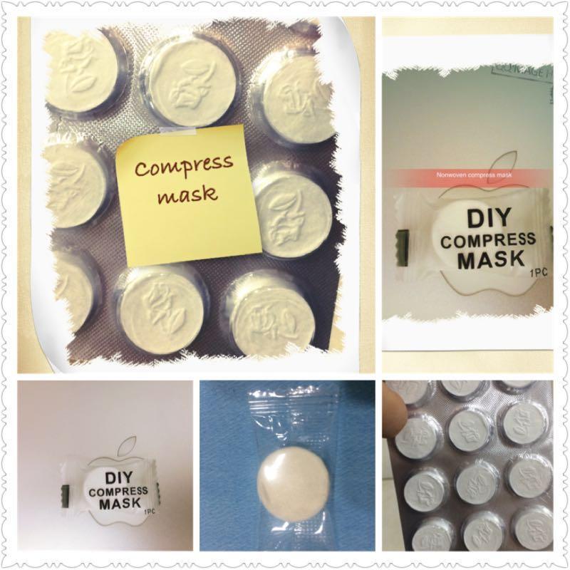 100% Cotton Compress Mask,ecofriendly,White color,100% cotton nonwoven fabrics