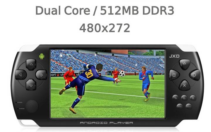 JXD S602B 4.3 inch Dual Core 512MB DDR3 Android 4.1 Smart Console
