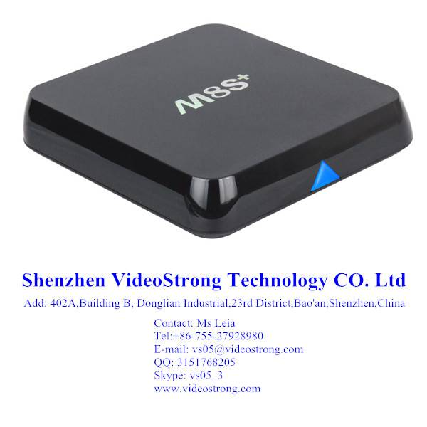 Newest M8S plus 2G/8G Amlogic S812 smart tv box preinstall kodi Android 5.1.1 OTT box smart IPTV
