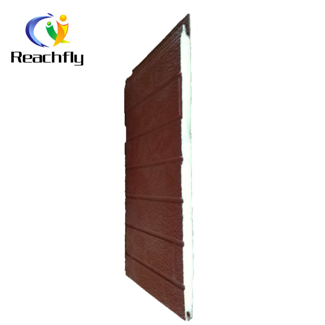 Fireproof polyurethane insulation layer sandwich wall panel for prefab building