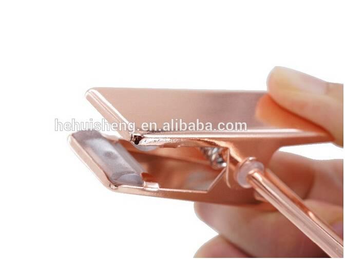 Rose Gold Metal Clip For Hangers Rack
