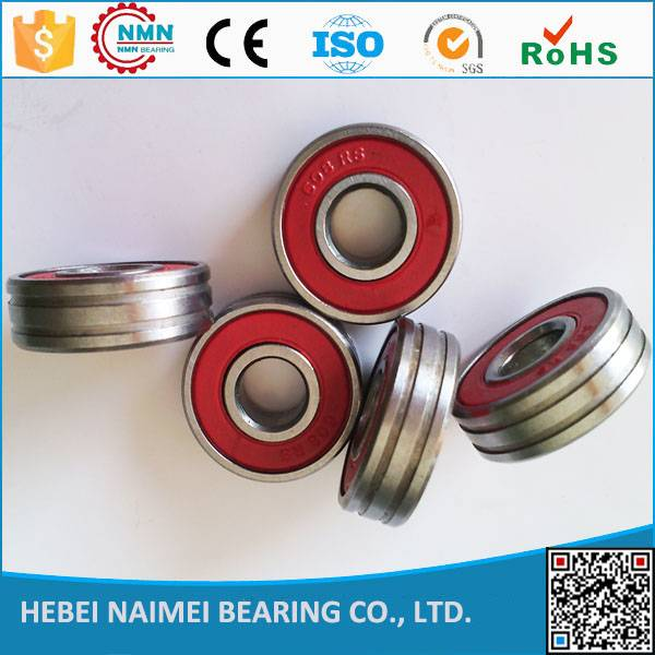 china factory deep groove ball bearings 608 with one or two grooved for roller injection
