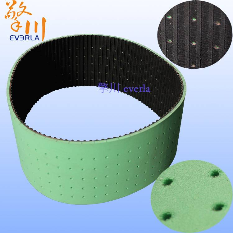 Rubber synchronous belt surface with foam