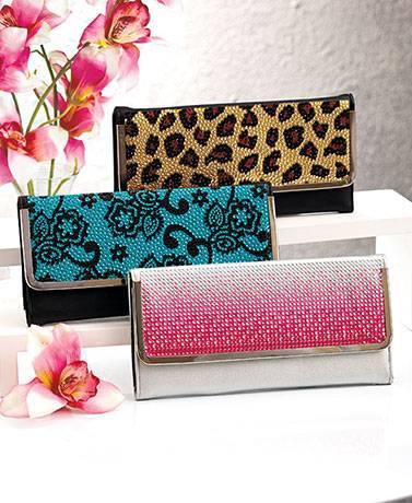 Frame lock bling wallet