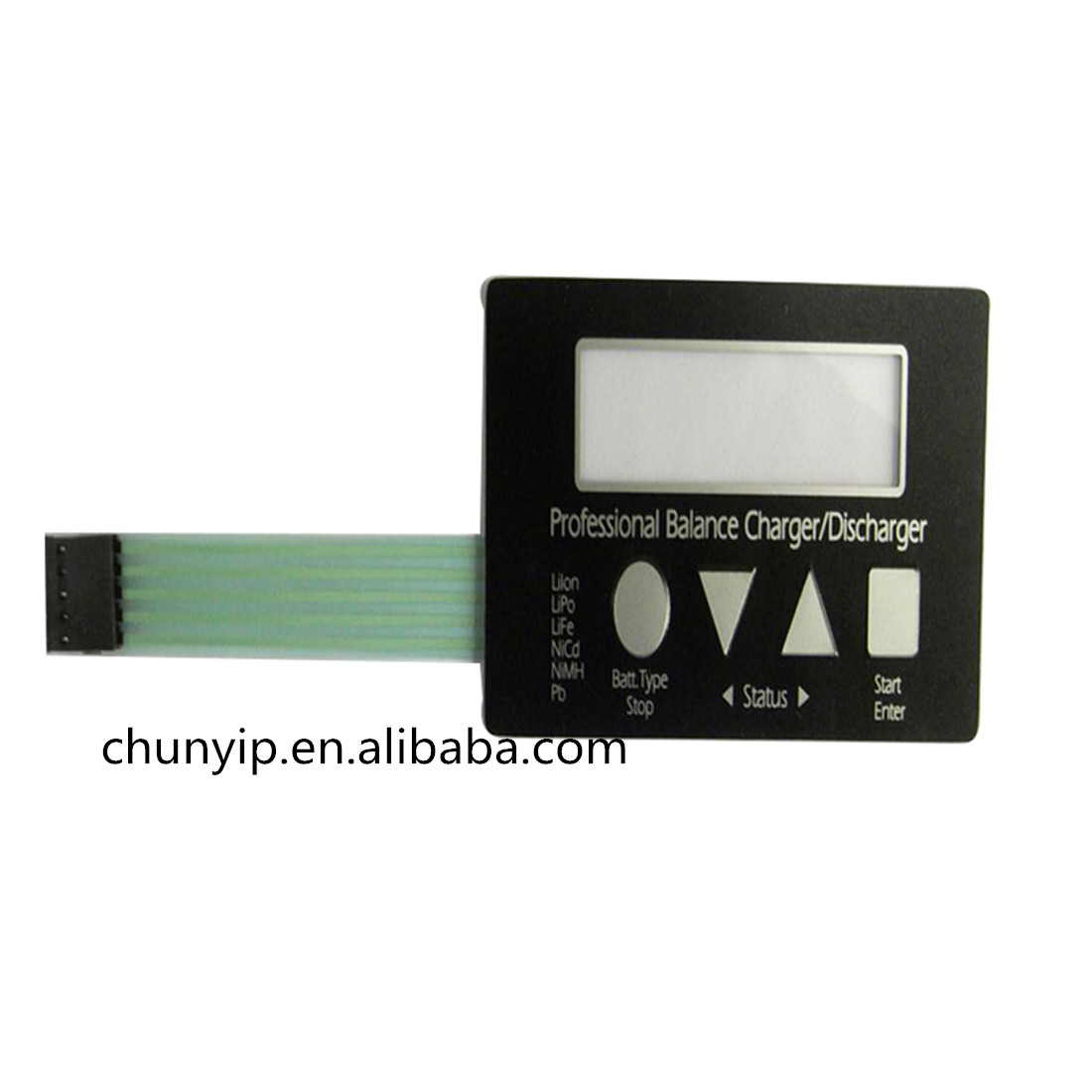 lcd membrane 4 push button keypad switch