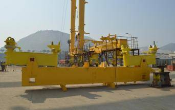 Heavy steel fabrication for reach stacke