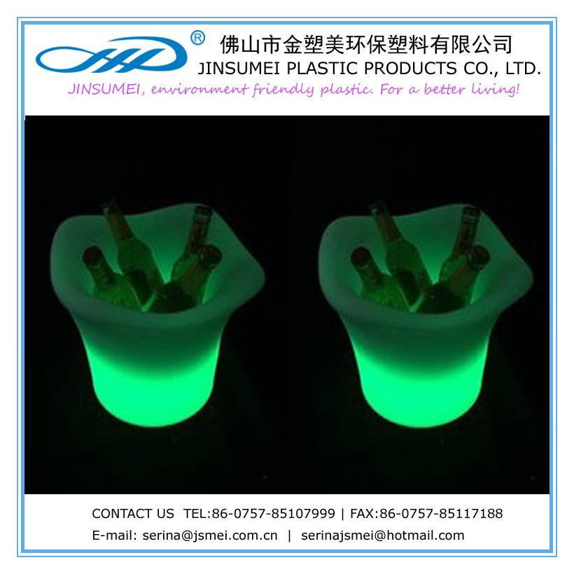LED beer and champagne bucket