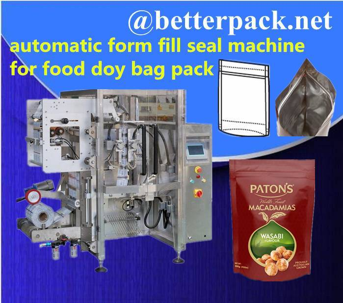 BT-520D automatic doy bag forming filling sealing machine with zipper applicator