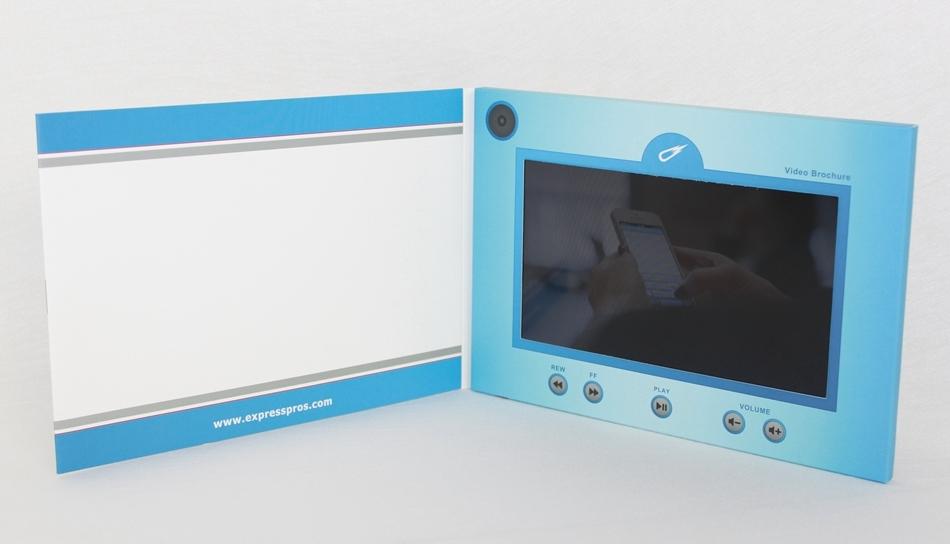 Custom printing video invitation greeting card lcd screen video card
