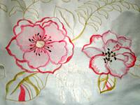 Textile Embroidery for Curtain