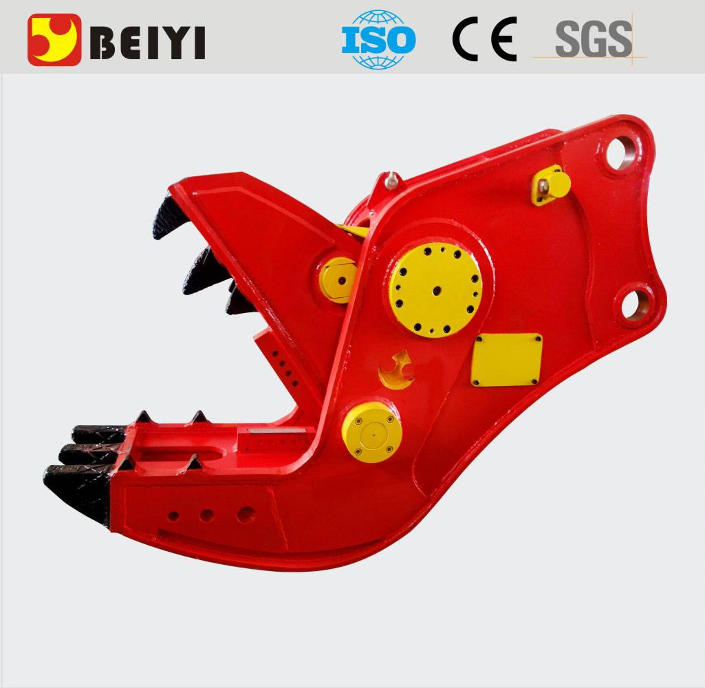 BEIYI excavator hydraulic pulverizer concrete crusher demolition shear