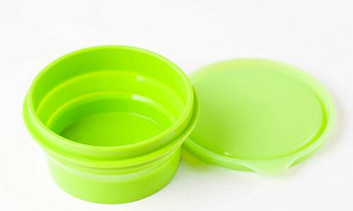 Collapsible Food Grade Container, Foldable Silicone  bowl Lunch Box Silicone Food Storage Box Silico