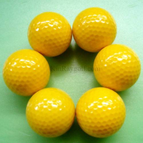 Yellow Range golf ball
