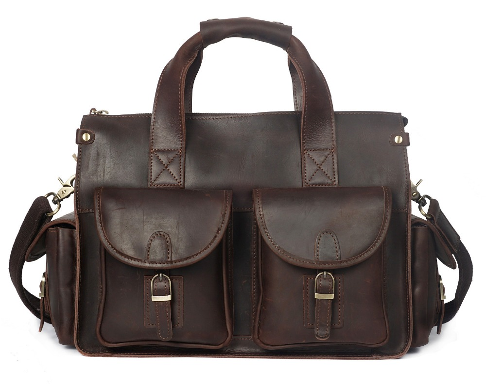 Retro & Gentalmen Full grain leather bag for men