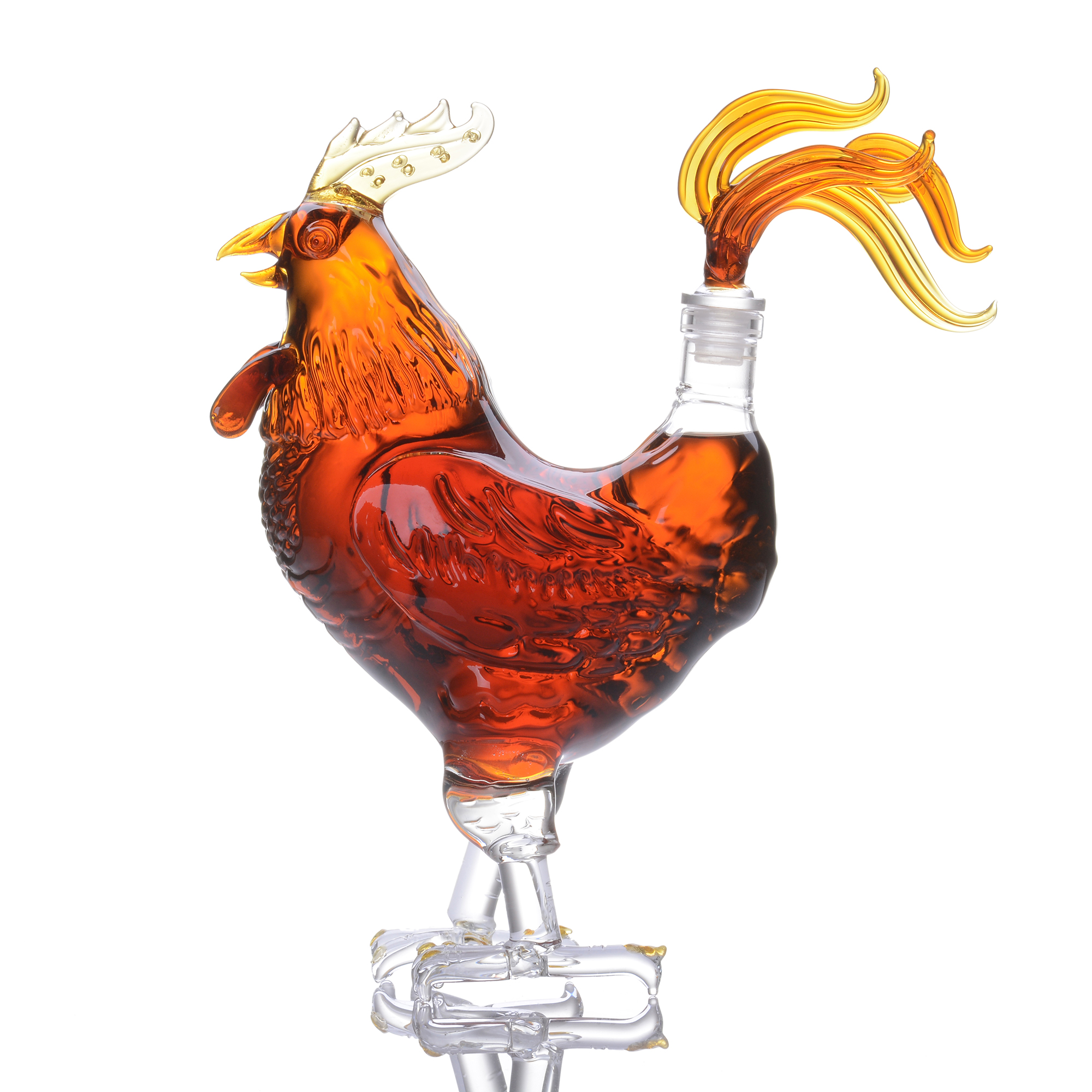 Rooster Shape Clear Glass Decanter 500ml / 1000ml