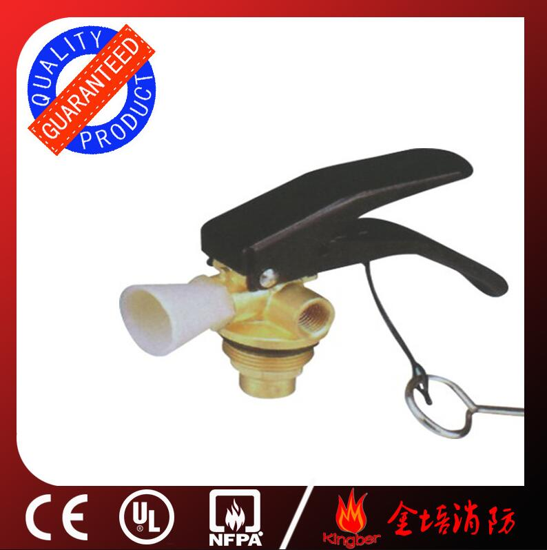 1-2KG Brass Body Material Dry Powder Extintor Valve with Nickel Plated and CE Approval