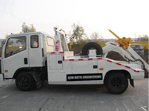 3 ton integrated tow truck to towing cars