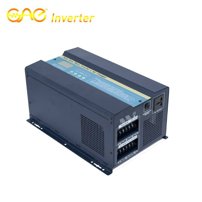 12V 1500W Low Frequency Pure Sine Wave Inverter with MPPT Solar Controller and AC charger