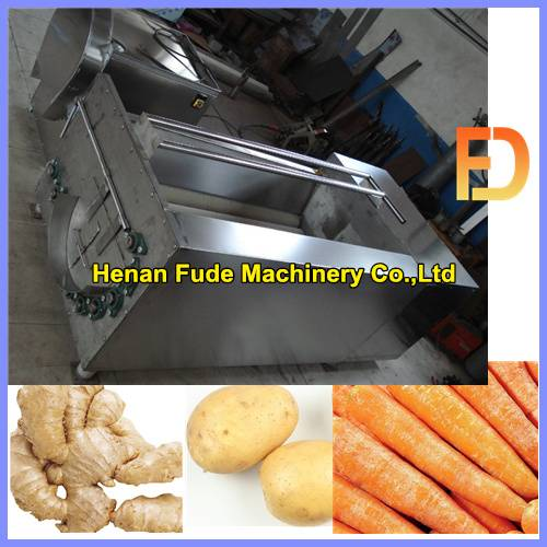 Multifunction ginger cleaning and peeling machine 0086-13698854655