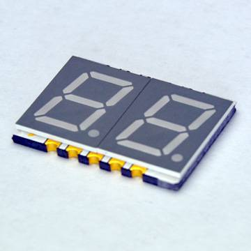 "0.39"" 2 digit ultra thin numeric anode blue led segment SMD display GS3921AB"