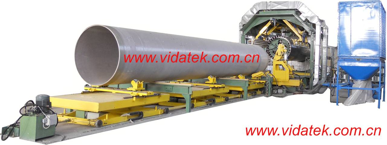 CFW CW filament winding line for GRP FRP pipe
