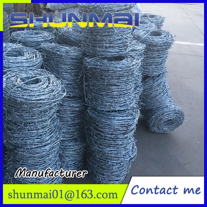 fence,barbed wire,hot-dip galvanized barbed wire price per roll
