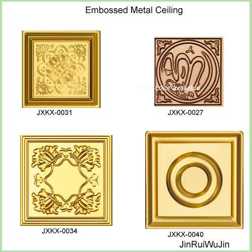 embossed metal ceiling