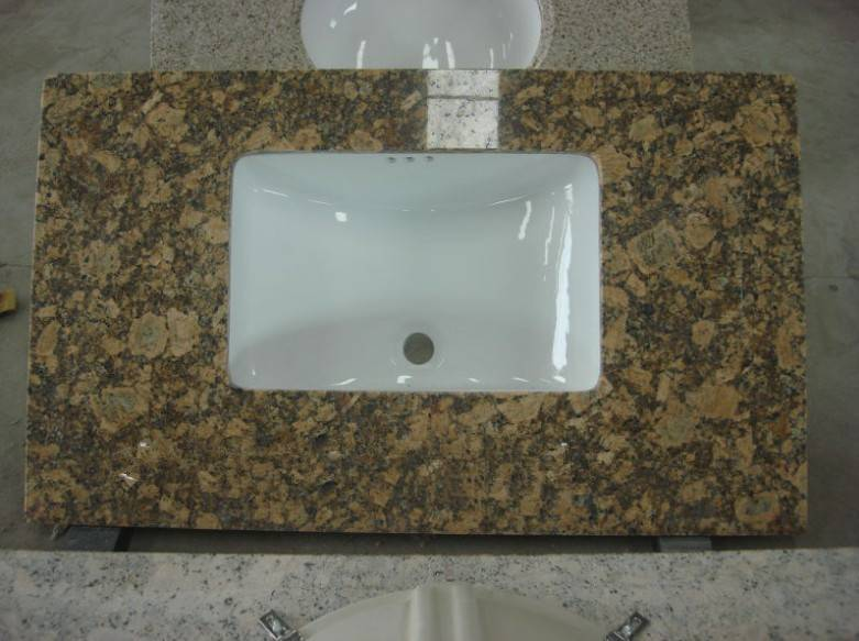 brown granite countertop with sink on sale