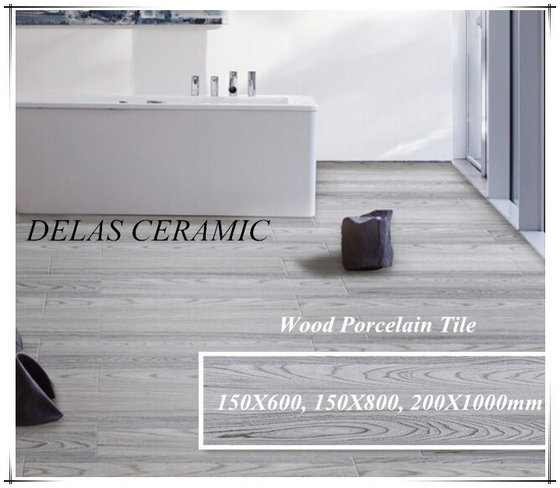 150x800 150x900 Artificial Wood Look Porcelain Non-Slip Bathroom Wall Floor Tile For Stair