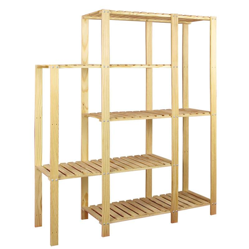 4/5 Shelf trapezoid Light Duty Unit - Solid Unfinished Pine