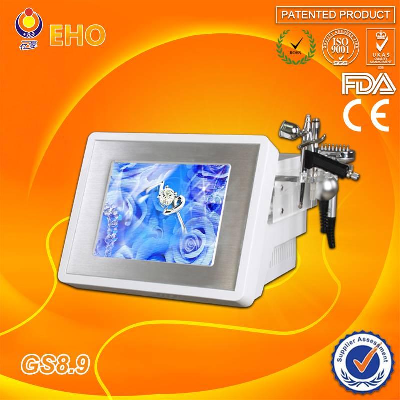 Led photon therapy+diamond peeling+bio portable multifunction oxygen facial beauty machine