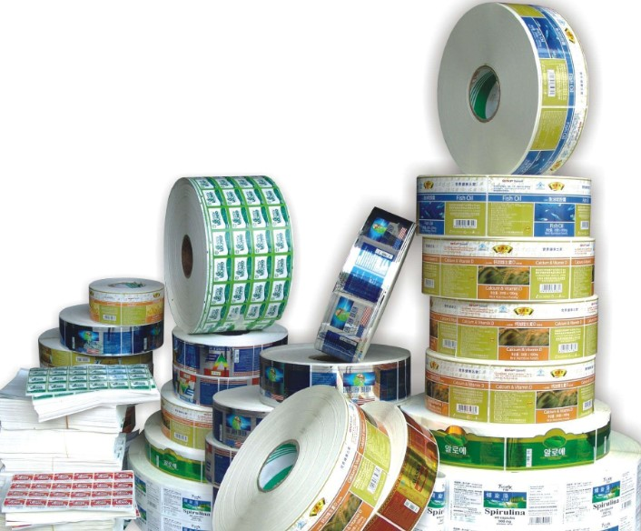 China sticker label printing