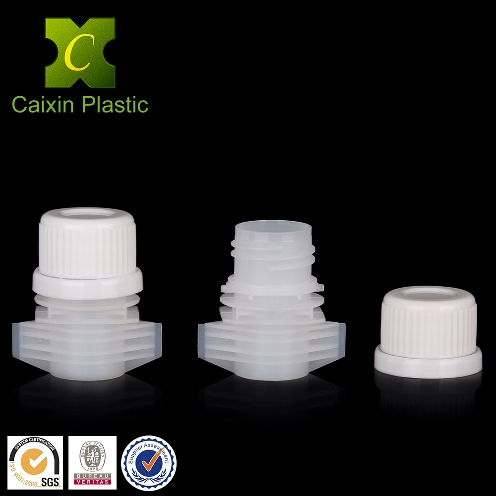 20mm Plastic PE Screw Cap Short Wing Spout for Sanding Pouches