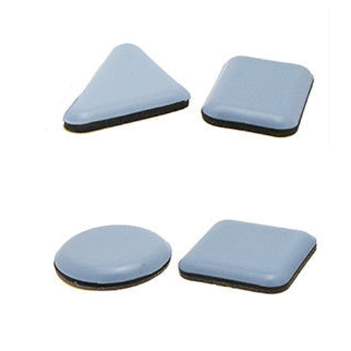 Round & Square Self Adhesive PTFE Teflon Glides, Sticky Floor Chair Pads