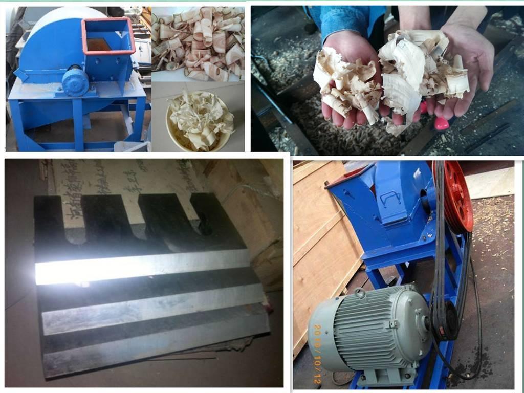 High productivity mobile wood shaving machine for animal bedding