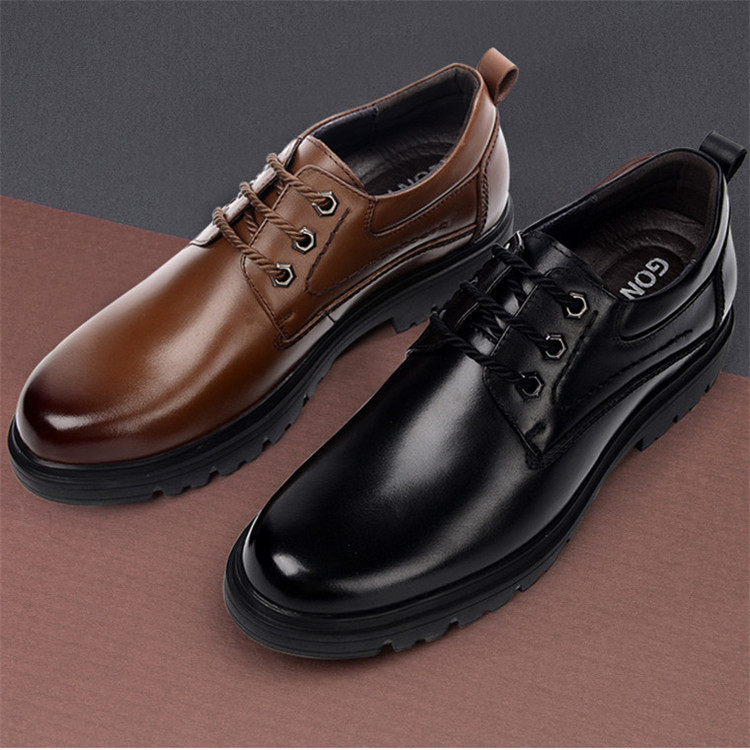 Men elevator shoes height increasing dress shoes