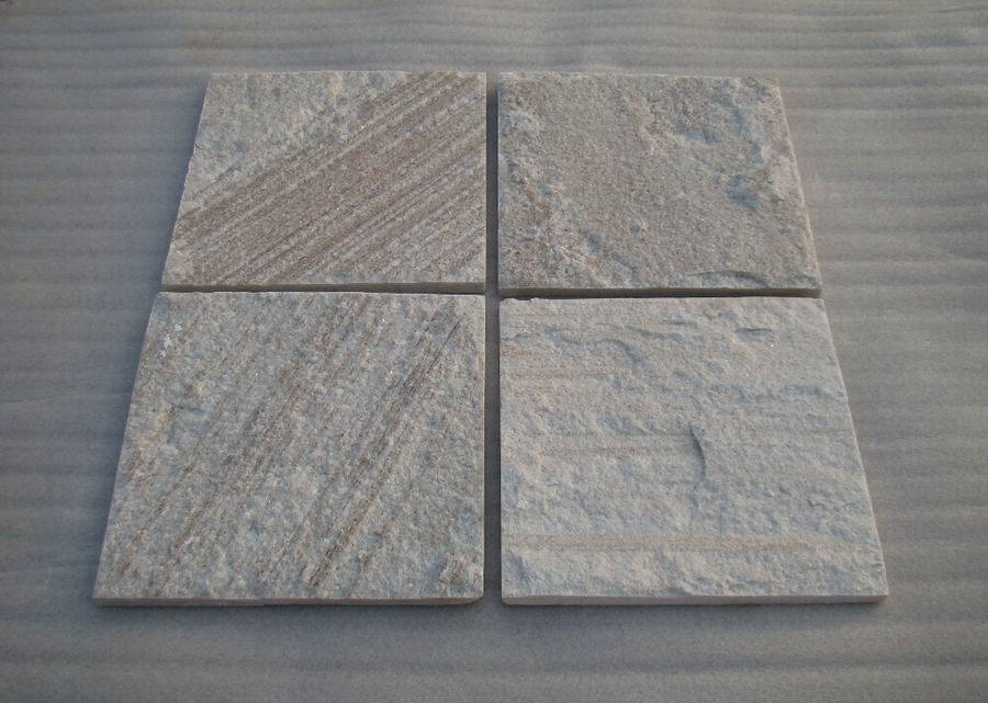 White wood-grain quartzite tile ZF1307