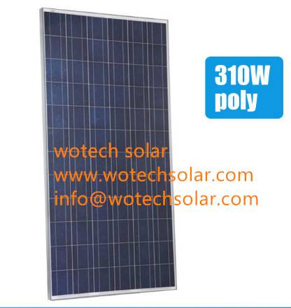 310w Poly wotch solar module