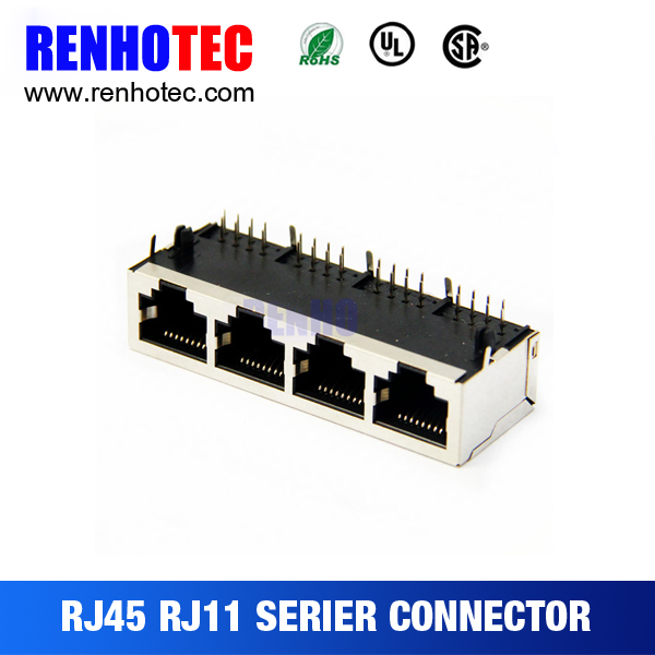 1x4 10/100/1000 Base-T Multi Port RJ45 Ethernet Module jack