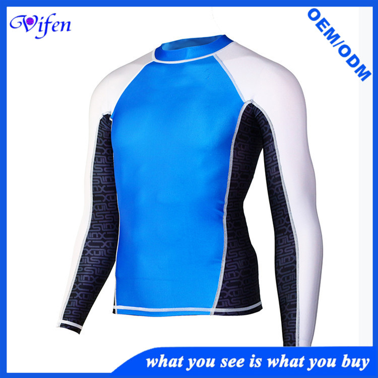 Classic mens surfing suit snorkeling diving scuba suit white blue lycra suit anti-jellyfish manufact