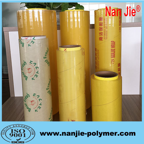 Nan Jie 25-60cm supermarket food packaging pvc film rolls