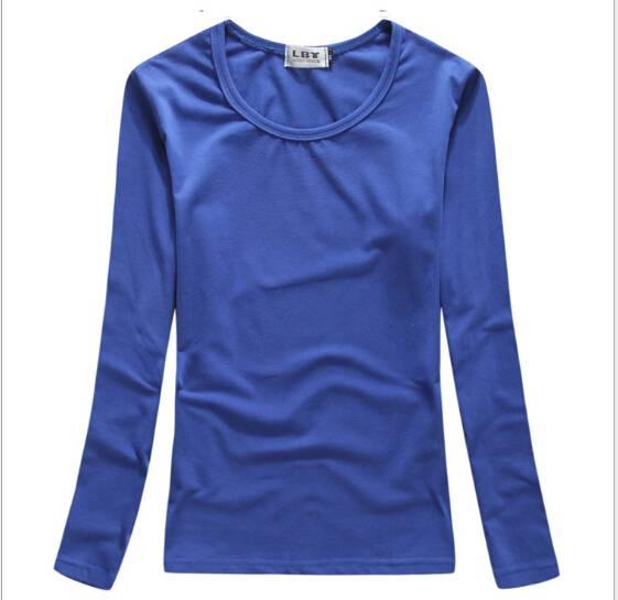 180 grams of s round neck long sleeve women T-shirt