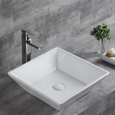 Wholesale ceramic table top square deep art basin