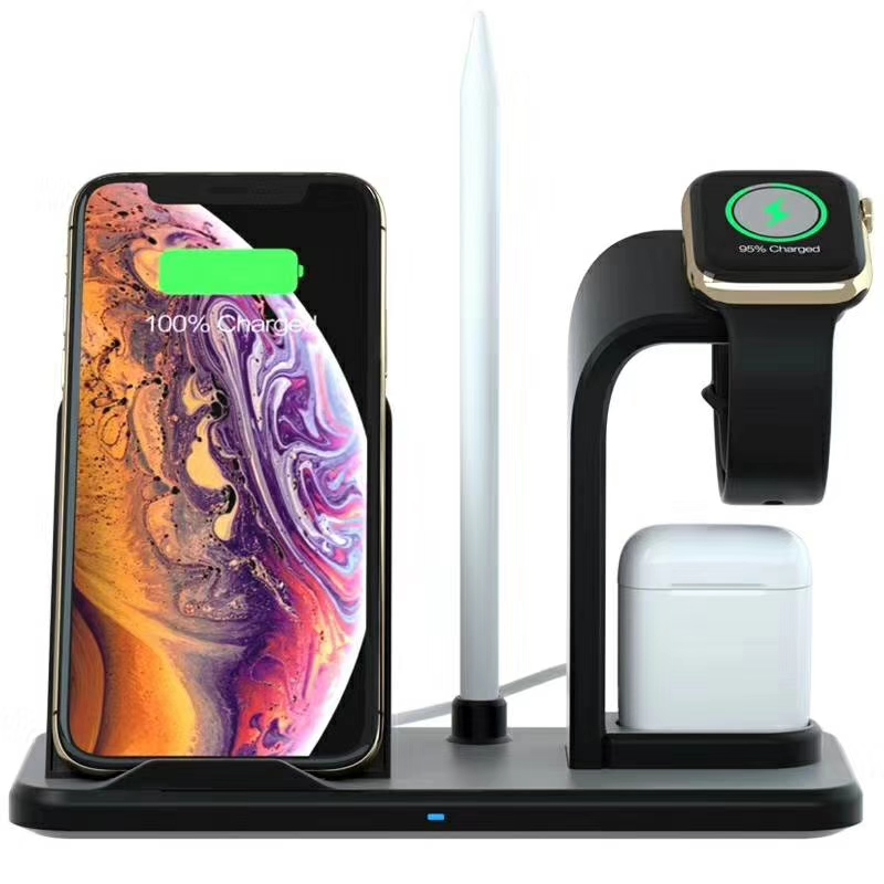 2019 latest high quality 4 in 1 quick wireless charger