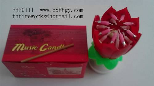 China Spinning Musical Birthday Candle Singing Music Cake Ma