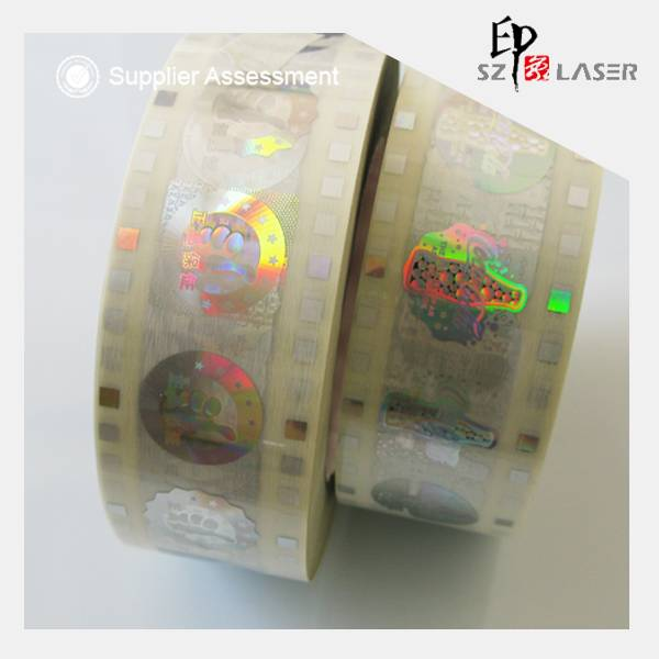20micron hologram hot stamping label with customized hologram