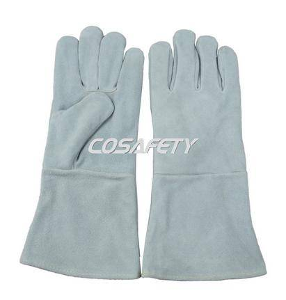 Cow split leather welding gloves (4606)