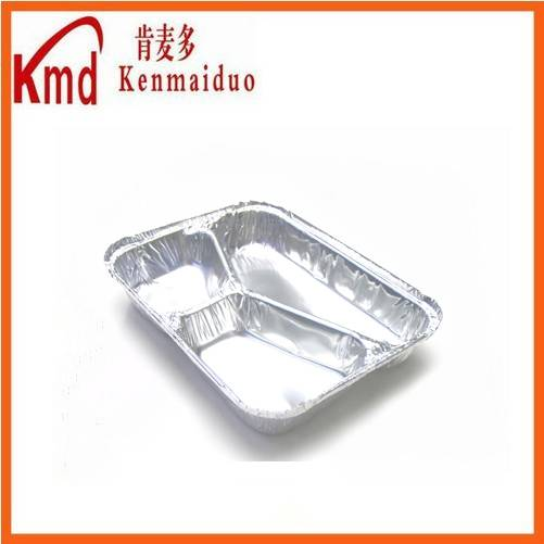2015 Available size factory wholesale compartment aluminum  foil food containers for packing by sell