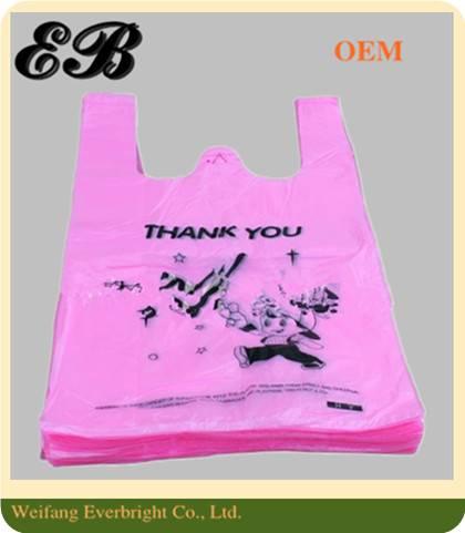 Cheap Plastic Environmentally Friendly Vest T-shirt Bag
