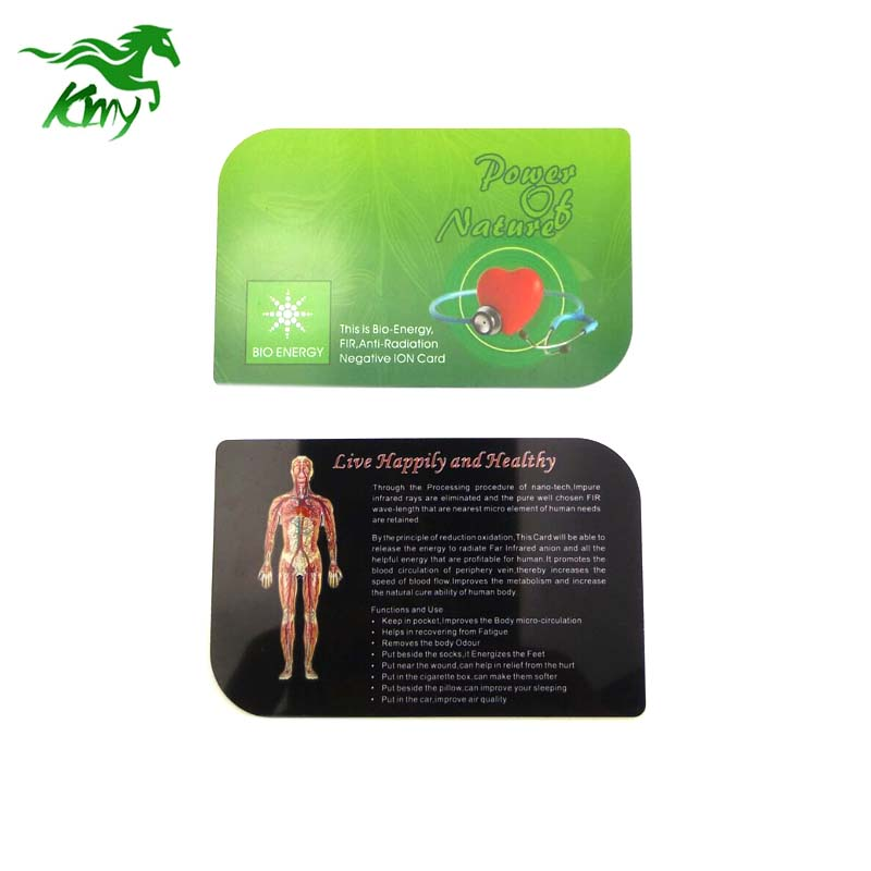 Healthcare product Bio scalar energy card with PVC plastic material